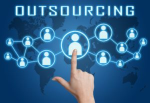visual graphic of outsourcing