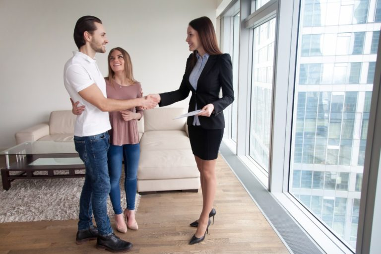 real estate agent and tenants