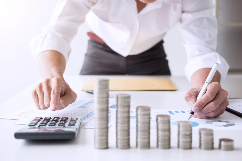 man calculating his finances