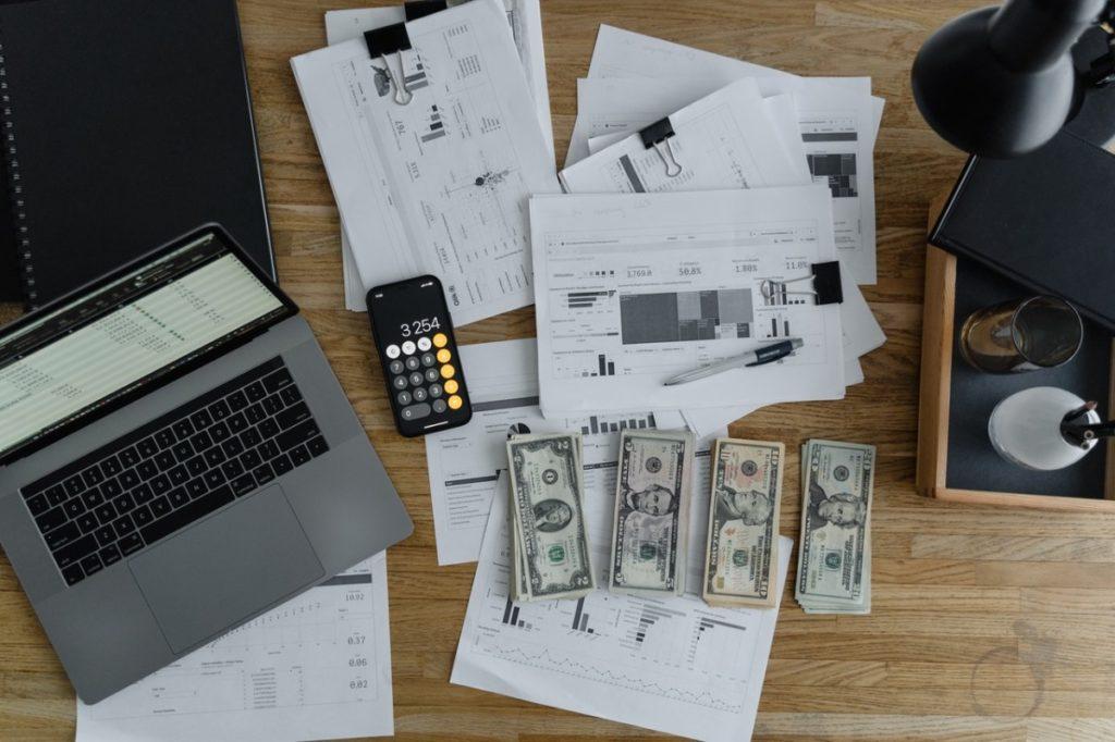 cash on a desk