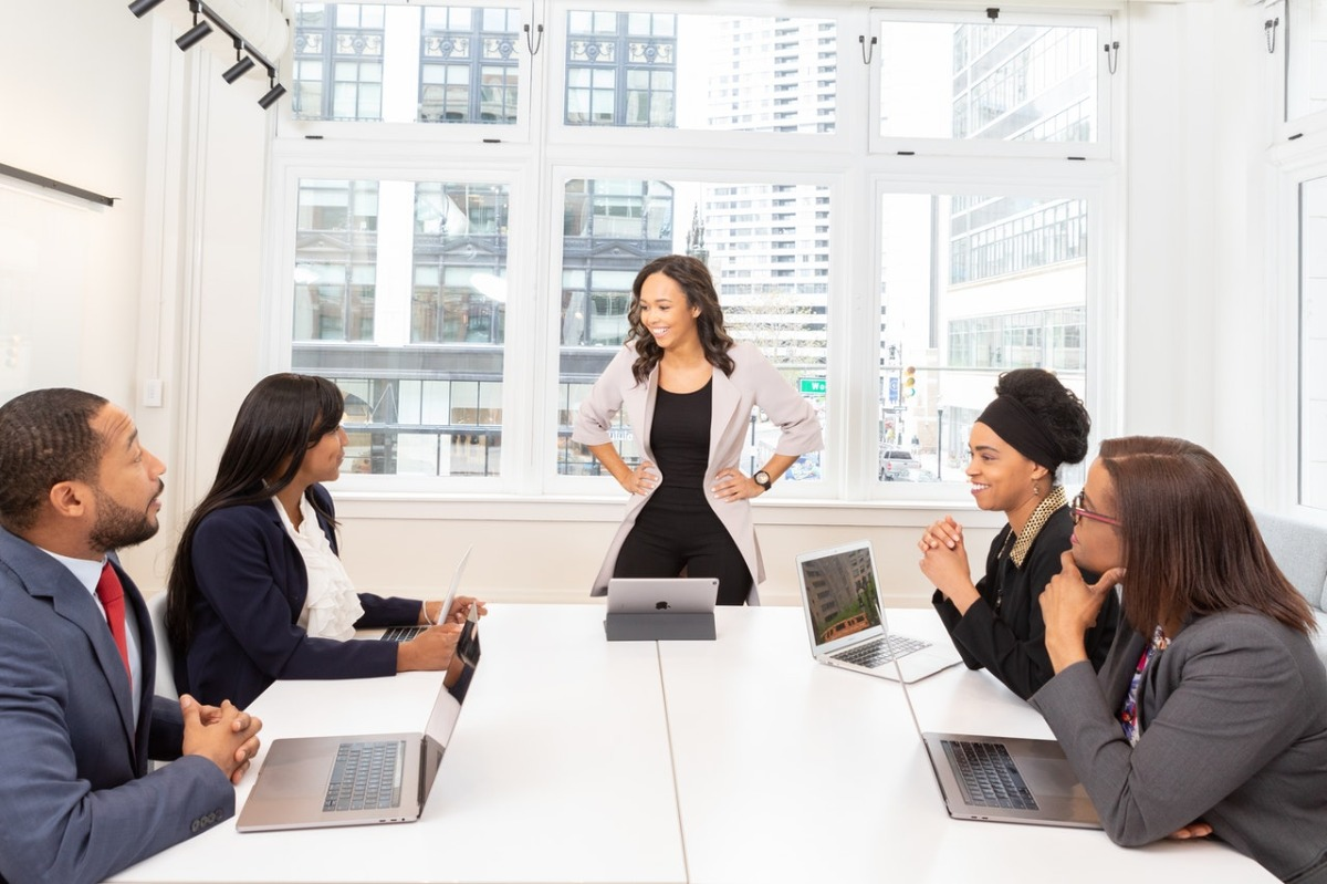 people at the conference room